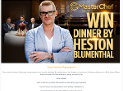 Win dinner by Heston Blumenthal!