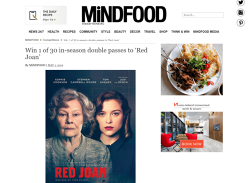 Win Double Movie Tix to Red Joan