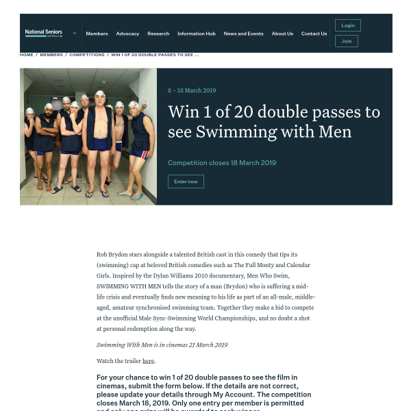 Win Double Movie Tix to Swimming With Men