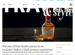 Win double pass to an exclusive Maker's Mark sensory experience