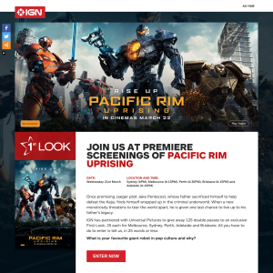 Win double passes to an exclusive First Look of Pacific Rim: Uprising