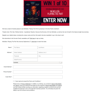 Win double passes to see McKellen: Playing The Part