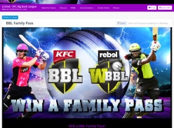 Win family tickets to BBL