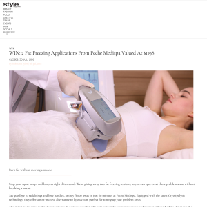 Win Fat Freezing Applications From Peche Medispa