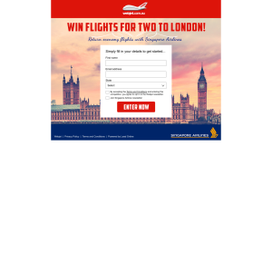 Win flights for 2 to London!