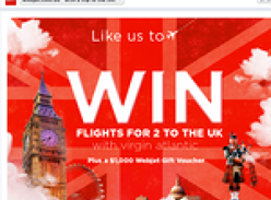 Win flights for 2 to the UK + a $1,000 Webjet gift voucher!