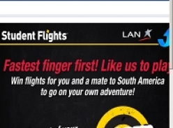 Win flights for you and a mate to South America
