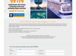 Win Flights, Stay & Cruise Package for 2!