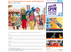 Win Four Annual Passes to Aussie World