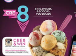 Win free ice cream for a year! (Instagram Required)