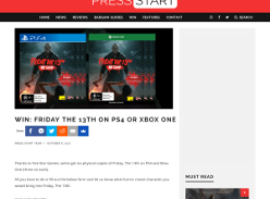 Win Friday The 13th On PS4 Or Xbox One