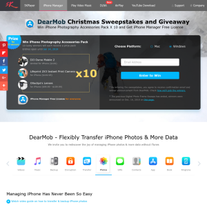 DearMob - Win iPhone Photography Accessories Pack