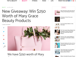 Win of Mary Grace Beauty Products