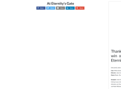 Win One of 20 in-Season Double Passes to at Eternity's Gate with Female.com.au