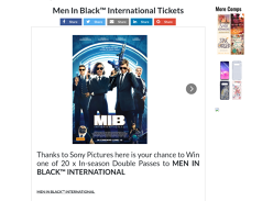 Win one of 20 x DPs to MEN IN BLACK INTERNATIONAL