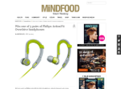 Win one of 5 pairs of Philips ActionFit Overdrive headphones
