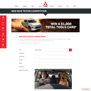 Win one of five $1,000 Total Tool cards
