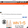 Win one of five Hairhouse Warehouse packs