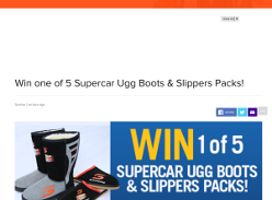 Win one of five pairs of Supercar ugg boots & slippers packs