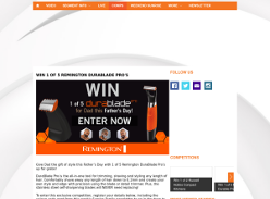 Win one of five Remington DuraBlade shavers
