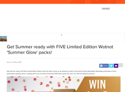 Win one of five Wotnot Summer Glow packs