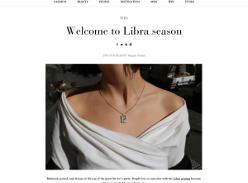 Win one of Reliquia's fine jewellery Libra necklaces