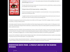Win one of ten advanced copies of A People's History of the Vampire Uprising