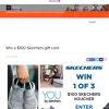 Win one of three $100 Skechers gift card
