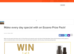 Win one of three Essano prize packs