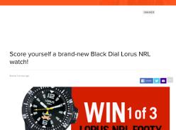 Win one of three NRL Lorus watches