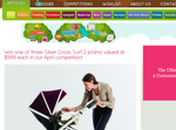Win one of three Silver Cross Surf 2 prams valued at $999