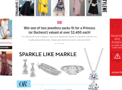 Win one of two jewellery packs fit for a Princess