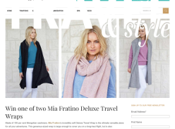 Win one of two Mia Fratino Deluxe Travel Wraps