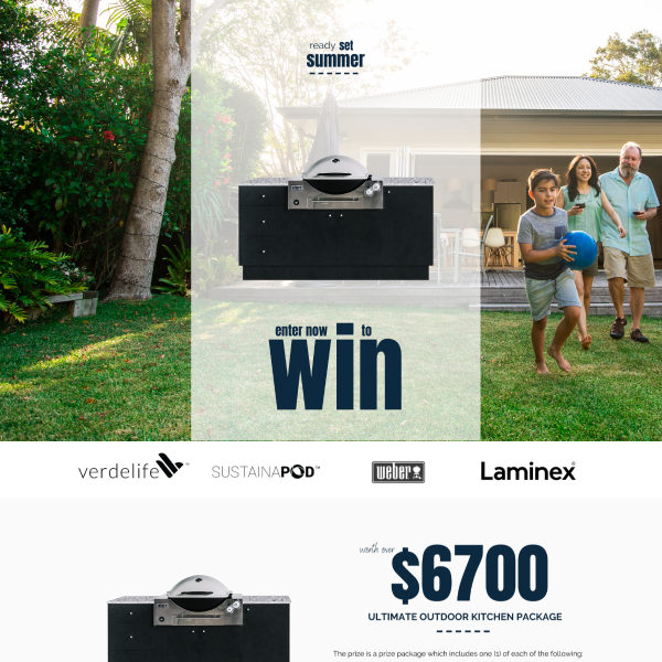 Win Our Ultimate Outdoor Kitchen Package