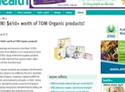 Win over $450+ worth of TOM Organic products!