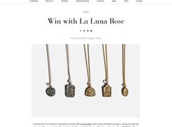 Win Patron Saint necklace from La Luna Rose' Santa Chiara collection