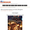 Win preview tickets to Folies Bergere