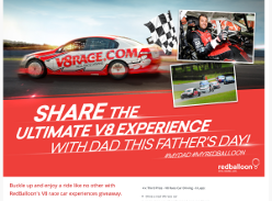 Win RedBalloon V8 experience and getaway