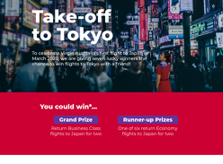 Win Return Business Class Flights or 1 of 6 Return Economy Flights for 2 to Japan