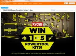 Win RYOBI PowerTools this Father's Day