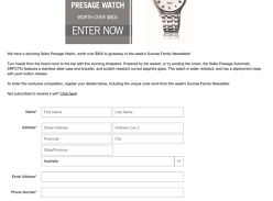 Win SEIKO Presage watch