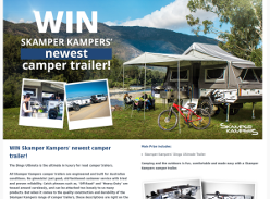 Win Skamper Kampers' newest camper trailer