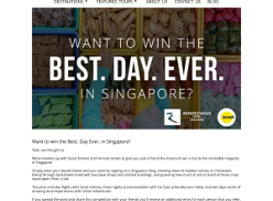 Win the best day ever in Singapore!