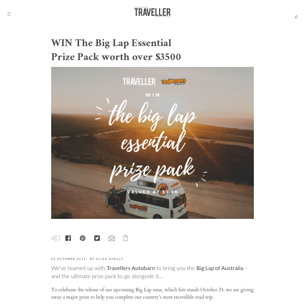 Win The Big Lap Essential Prize Pack