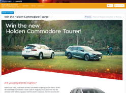Win the Holden Commodore Tourer