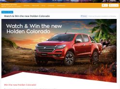 Win the new Holden Colorado!