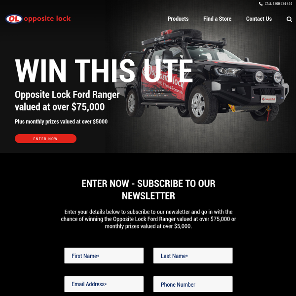Win the Opposite Lock Ford Ranger