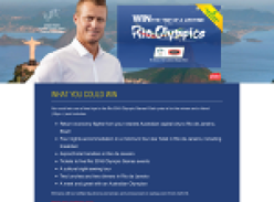 Win the trip of a lifetime to the Rio Olympics!