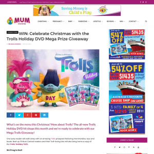 Win The Trolls Holiday DVD Mega Prize Giveaway