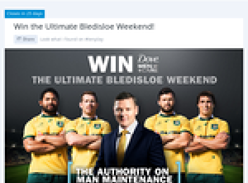 Win the Ultimate Bledisloe Weekend!